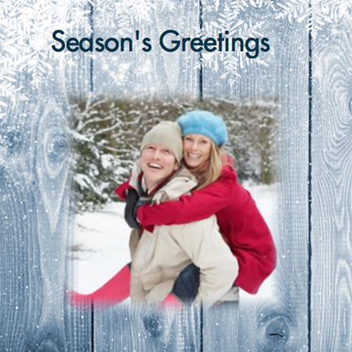 Picture of Photo Square Christmas Card S06