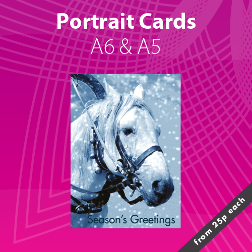 Personalised Portrait Christmas Card Printing