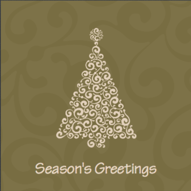 Picture of Folded Christmas Card S26