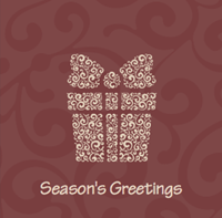 Picture of Folded Christmas Card S17