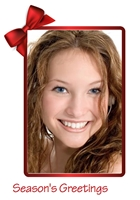 Picture of Photo Portrait Christmas Card P03