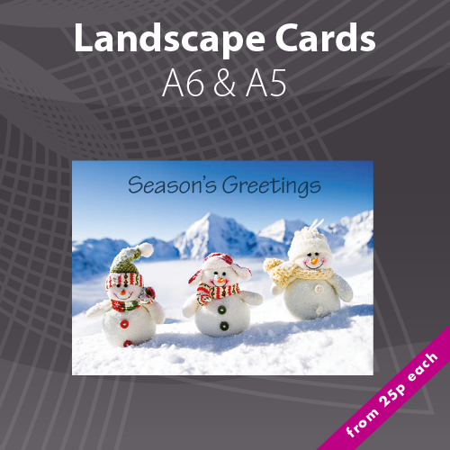 Personalised photo christmas card printing xmas card printers a5 a6 personalised landscape christmas card printing reheart Images