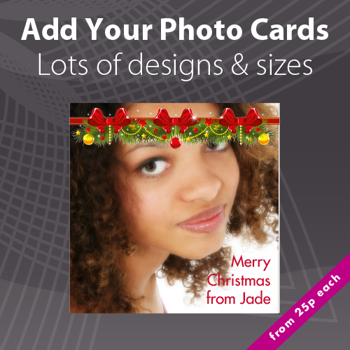 Personalised Photo Christmas Card Printing