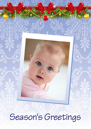 Picture of Photo Portrait Christmas Card P06