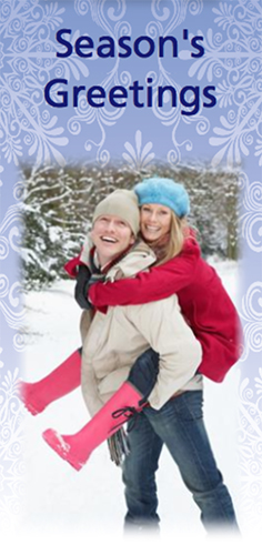Picture of Tall Photo Christmas Card T03