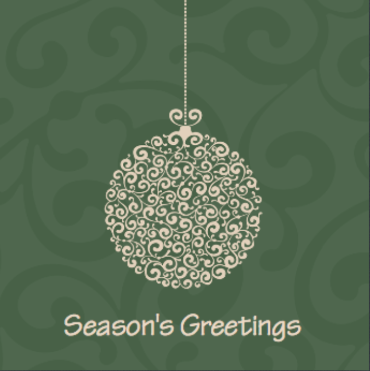 Picture of Folded Christmas Card S19