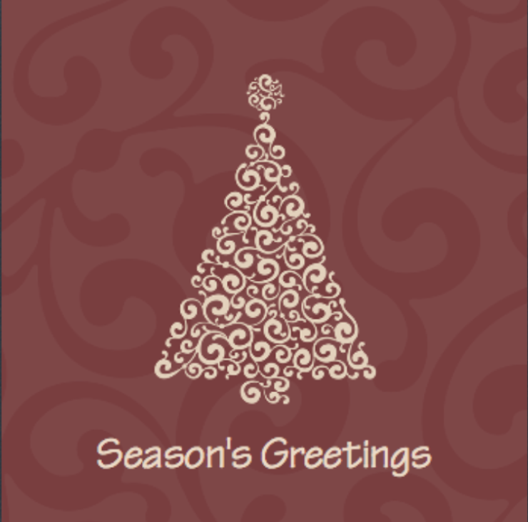 Picture of Folded Christmas Card S14