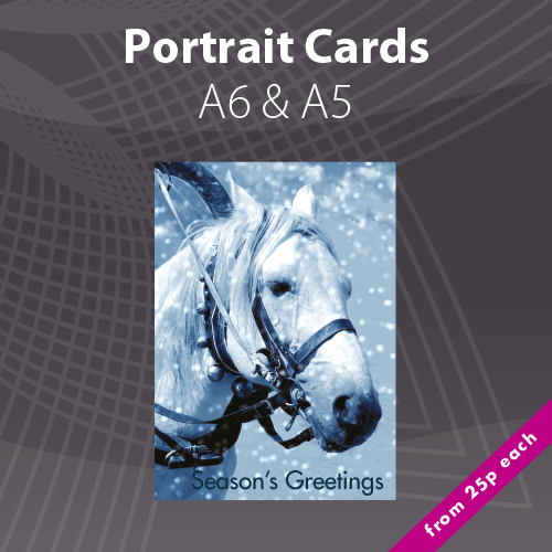 A5 & A6 Personalised Portrait Christmas Card Printing