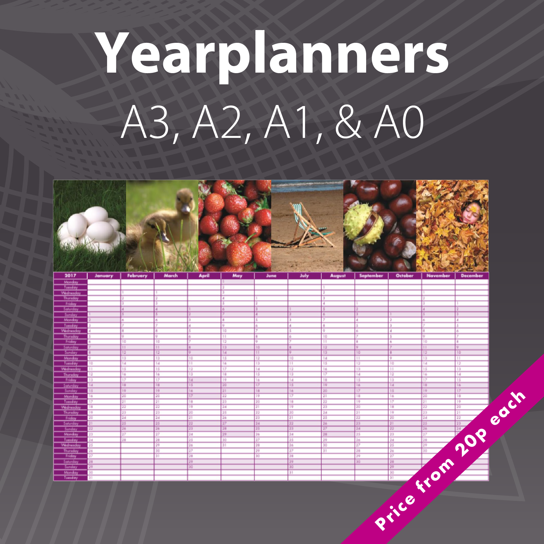 2018 Photo Yearplanners & Wallplanners