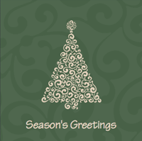 Picture of Folded Christmas Card S22