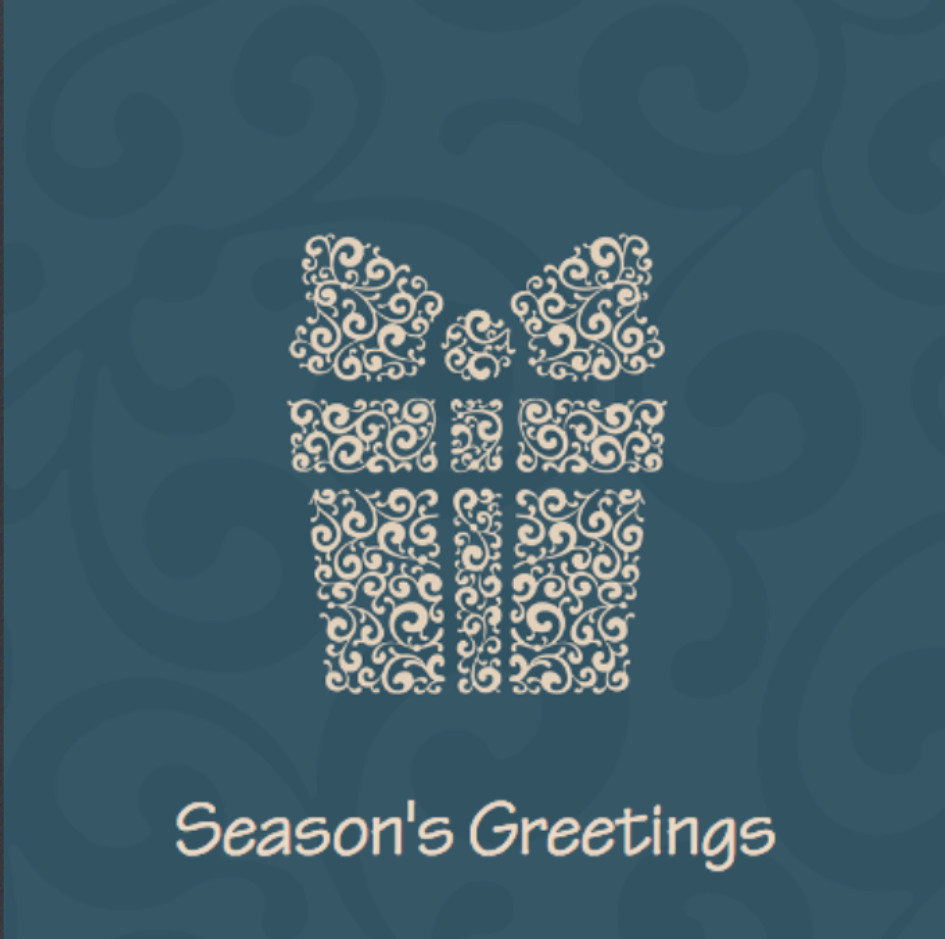 Picture of Folded Christmas Card S21