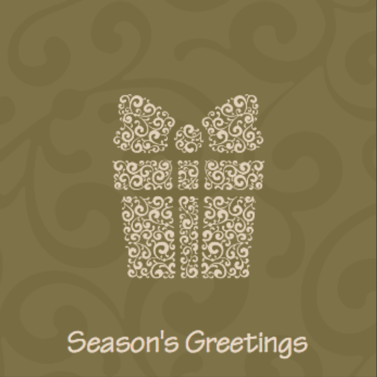 Picture of Folded Christmas Card S13