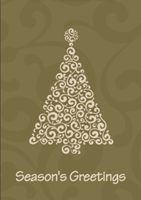 Picture of Folded Christmas Card P26