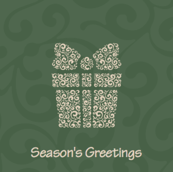 Picture of Folded Christmas Card S25