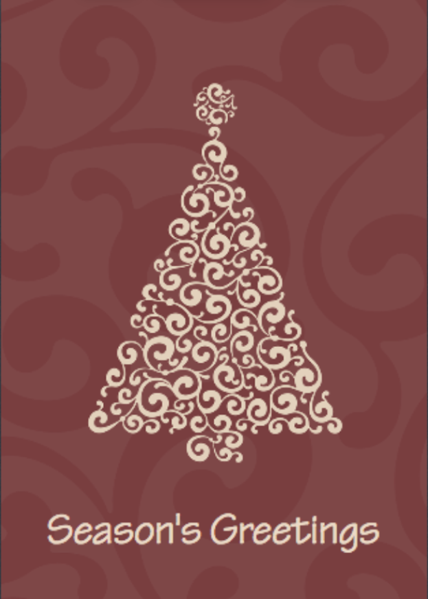 Picture of Folded Christmas Card P14