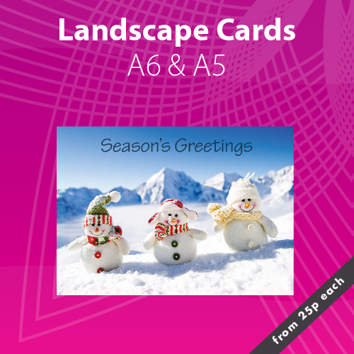 Personalised Landscape Christmas Card Printing